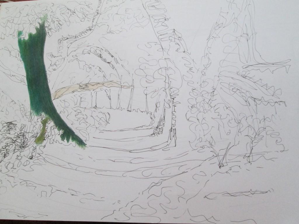 Imaginary woodland track