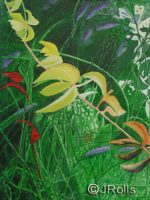 Jungle dreams painting on canvas by jacqueline rolls
