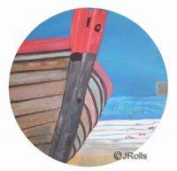 Boat Yard Painting Jacqueline Rolls