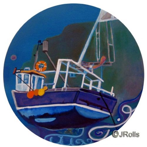 Boat of dreams painting Jacqueline Rolls