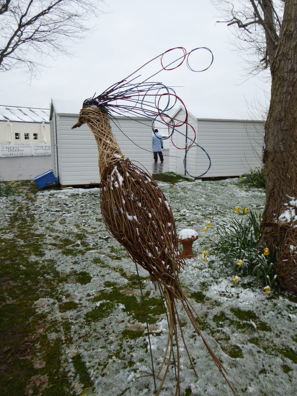 Willow fantasy bird in the snow