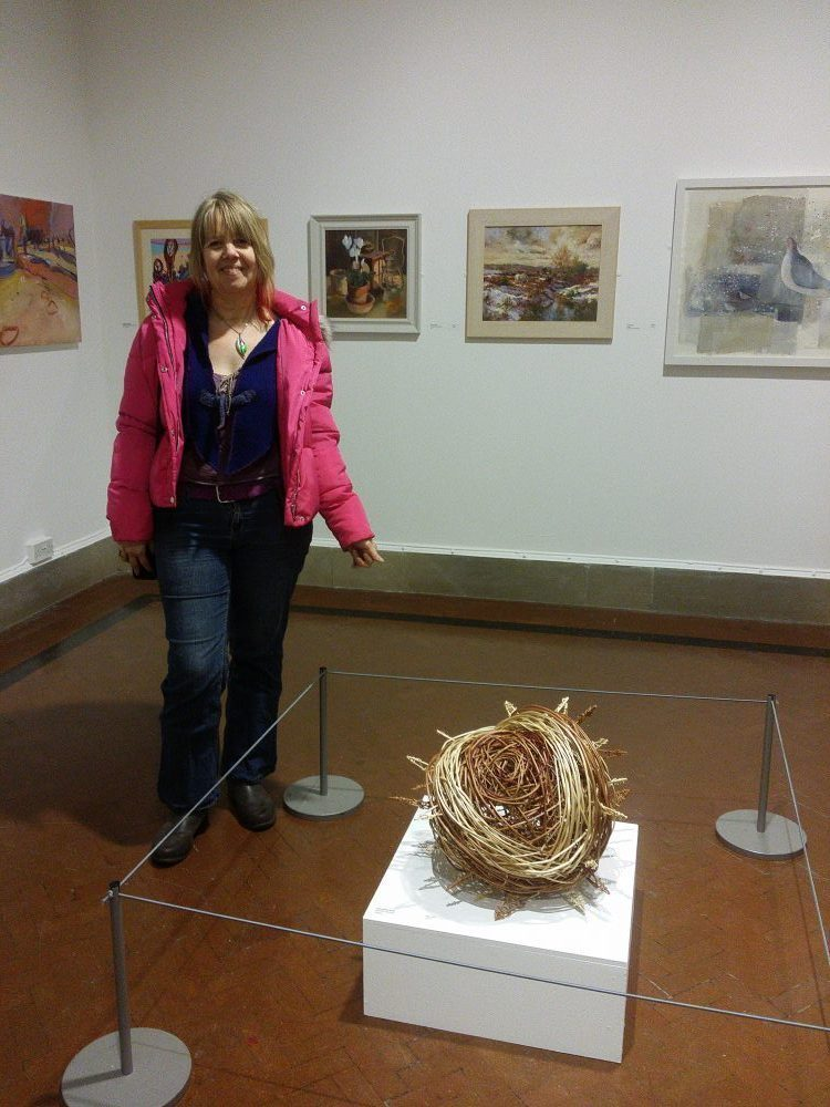 pic of me with my willow chestnut sculpture
