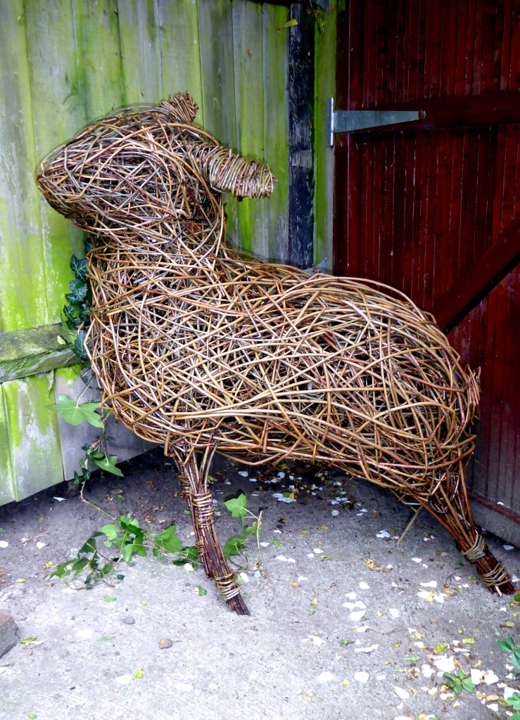 Willow sheep sculpture